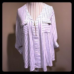 Blue striped Express blouse